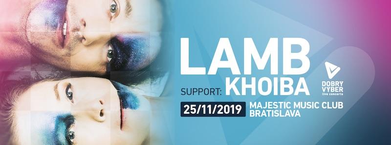 Lamb budú mať v Bratislave exkluzívnu predkapelu, v MMC sa predstaví Khoiba