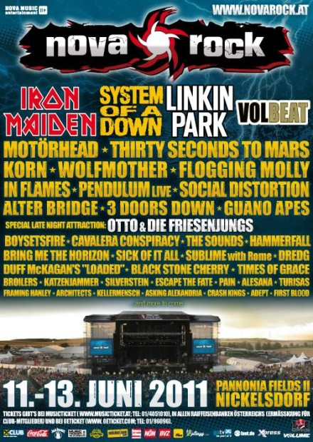 Festival Nova Rock dupol na plyn: Motörhead, 30 Seconds To Mars, Guano Apes, Wolfmother aj 3 Doors Down!