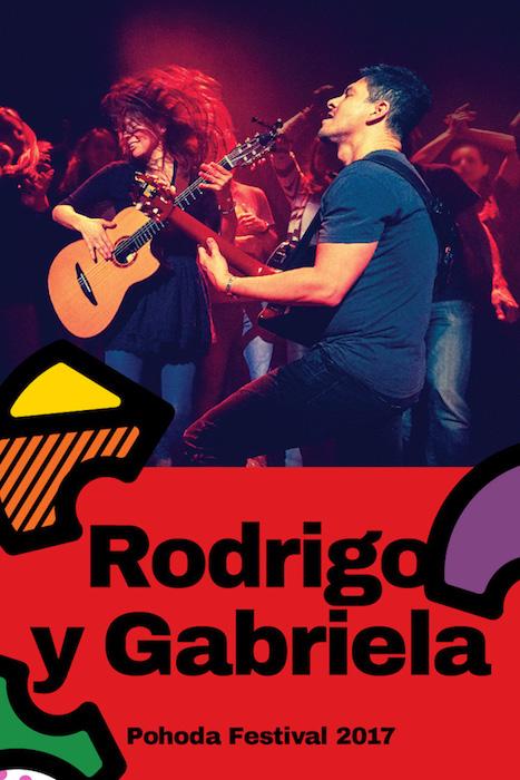 Mexické gitarové duo Rodrigo y Gabriela na festivale Pohoda 2017
