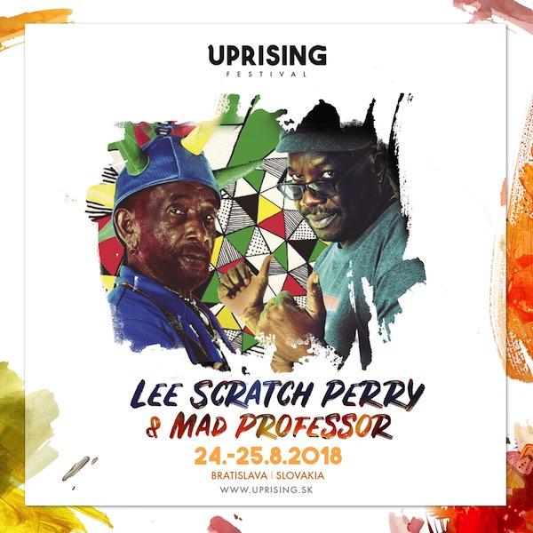 Uprising dopĺňa line-up, do Bratislavy toto leto mieria aj Lee 'Scratch' Perry, Mad Professor či Benny Page
