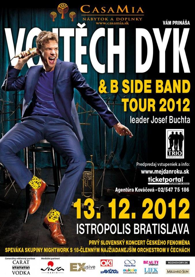 Vojtech Dyk a B Side Band s Josefom Buchtom vystúpia v Bratislave