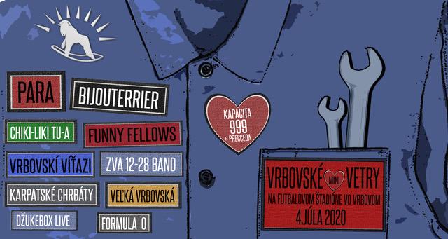 Festival Vrbovské Vetry 2020 sa uskutoční v pôvodnom termíne 4. júla.