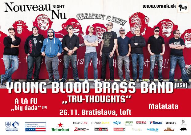 VYHODNOTENÉ: Súťaž o 2×1 vstup na koncert Youngblood Brass Band v Bratislave!